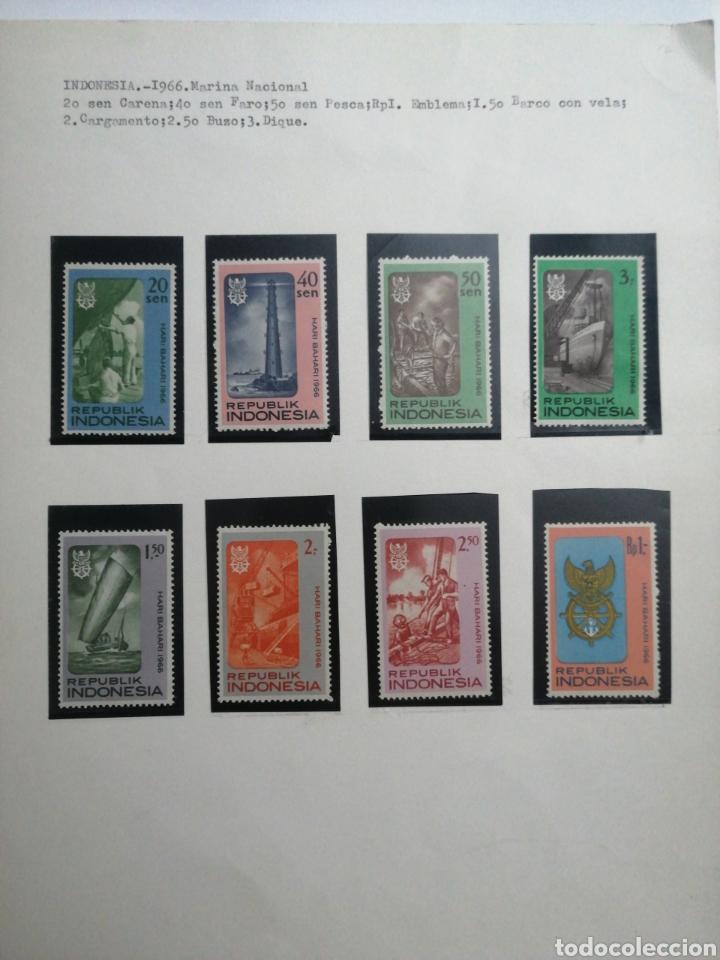 COLECCIÓN INDONESIOS 1966, MARINA NACIONAL (Sellos - Extranjero - Asia - Indonesia)