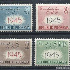 Sellos: INDONÉSIE N°189/92** (MNH) 1959 - RETOUR À LA CONSTITUTION DE 1945. Lote 229959035