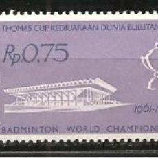 Sellos: INDONESIA, YVERT 246/8, DEPORTES 1961, NUEVO, SIN SEÑAL DE FIJASELLOS. Lote 234370755