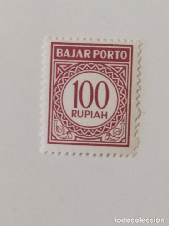 SELLO DE INDONESIA PORTE DEBIDO 100 R - 1965 - NUEVO SIN SEÑAL DE FIJASELLOS (Sellos - Extranjero - Asia - Indonesia)
