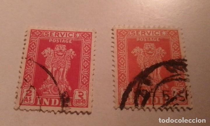 2 SELLOS INDIA 2 A SELLADOS (Sellos - Extranjero - Asia - Indonesia)