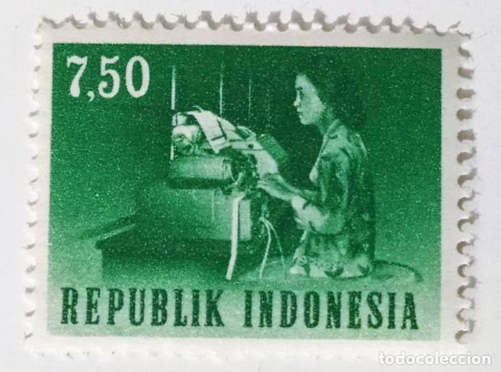 SELLO DE INDONESIA 7,5 - 1964 - TELETIPO - NUEVO SIN SEÑAL DE FIJASELLOS (Sellos - Extranjero - Asia - Indonesia)