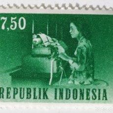 Sellos: SELLO DE INDONESIA 7,5 - 1964 - TELETIPO - NUEVO SIN SEÑAL DE FIJASELLOS. Lote 245559540
