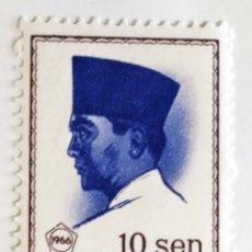 Sellos: SELLO DE INDONESIA 10 SEN - 1964 - SUKARNO - NUEVO SIN SEÑAL DE FIJASELLOS. Lote 247744345
