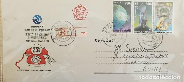 O) 1993 INDONESIA, SATELITE, PALAPA, TELEFONOS ANTIGUOS Y NUEVOS, COMUNICACIONES POR SATELITE, INDOS (Sellos - Extranjero - Asia - Indonesia)