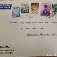 Sellos: O) 1958 INDONESIA, PRES.SUKARNO, NUMERALS, MONTAÑA SUMATRA, MEZQUITA MEDAN SUMATRA, OLIMO, CORREO AÉ. Lote 256047360
