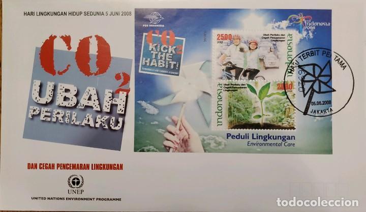 O) 2008 INDONESIA, PROGRAMA DE LAS NACIONES UNIDAS PARA EL MEDIO AMBIENTE, DIOXIDO DE CARBONO CO2, C (Sellos - Extranjero - Asia - Indonesia)