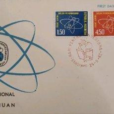 Sellos: O) 1962 INDONESIA, DIAGRAMA DEL ÁTOMO, DESARROLLO A TRAVÉS DE LA CIENCIA. FDC XF. Lote 267419569