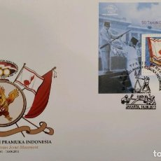 Sellos: O) 2011 INDONESIA, SCOUTS, 50 YEARS OF THE SCOUTING MOVEMENT, FDC XF. Lote 267419939