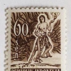 Sellos: SELLO DE INDONESIA 60 S - 1953 - ESPIRITU DE INDONESIA - NUEVO SIN SEÑAL DE FIJASELLOS. Lote 268828894