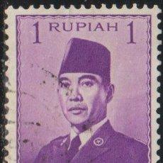 Sellos: INDONESIA 1951 SCOTT 387 SELLO º PERSONAJES PRESIDENTE SUKARNO MICHEL 82 YVERT 36 STAMPS TIMBRE. Lote 270540853