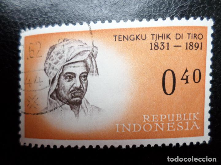 INDONESIA, 1961, HEROES NACIONALES, TENGU TJHIK, YVERT 256 (Sellos - Extranjero - Asia - Indonesia)