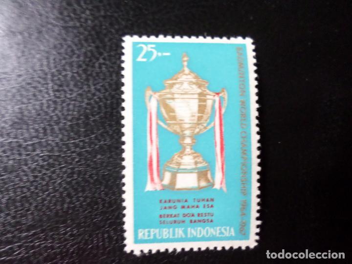 INDONESIA, 1964, CAMPEONATOS INTERNACIONALES DE BADMINGTON, YVERT 392 (Sellos - Extranjero - Asia - Indonesia)