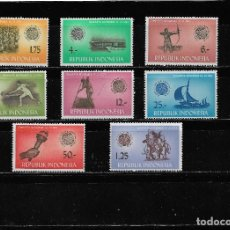 Sellos: INDONESIA 1963, SERIE 351/58 DEPORTES. MNH.. Lote 288869178