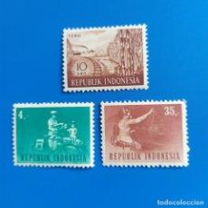 Sellos: ## SELLO NUEVO INDONESIA 1960 Y 1964 3 SELLOS#. Lote 291952368