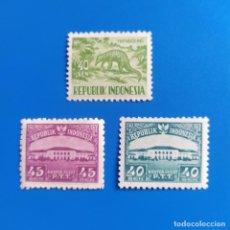 Sellos: ## SELLO NUEVO INDONESIA 1953 Y 1956 3 SELLOS#. Lote 291952443