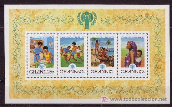 GHANA HB 80*** - AÑO 1980 - AÑO INTERNACIONAL DEL NIÑO (Sellos - Temáticas - Infantil)