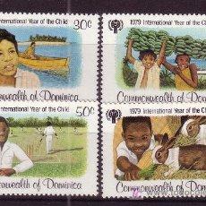 Sellos: DOMINICA 599/602*** - AÑO 1979 - AÑO INTERNACIONAL DEL NIÑO. Lote 24965778