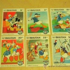 Sellos: SERIE DE 6 SELLOS NUEVOS DISNEY - BHUTAN - HAPPY BIRTHDAY DONALD DUCK 1934 / 1984 - . Lote 16612488