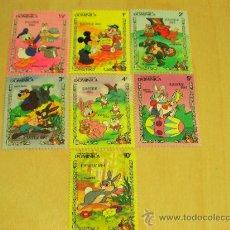Sellos: SERIE DE 7 SELLOS NUEVOS DISNEY - DOMINICA - PASCUA 1984 - . Lote 16612490