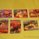 Sellos: SERIE DE 6 SELLOS NUEVOS DISNEY - MALDIVES - DONALD AND THE WHEEL - 1961 - . Lote 16724536