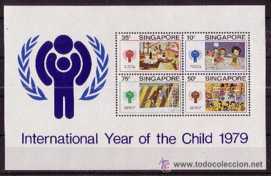 SINGAPUR HB 11*** - AÑO 1979 - AÑO INTERNACIONAL DEL NIÑO (Sellos - Temáticas - Infantil)