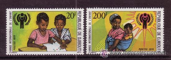 DJIBOUTI 495/96*** - AÑO 1979 - AÑO INTERNACIONAL DEL NIÑO (Sellos - Temáticas - Infantil)