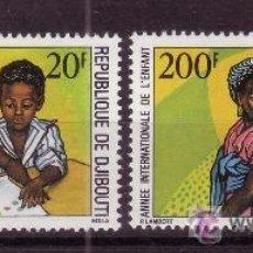 Sellos: DJIBOUTI 495/96*** - AÑO 1979 - AÑO INTERNACIONAL DEL NIÑO. Lote 23051258