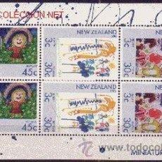 Sellos: NUEVA ZELANDA HB 55*** - AÑO 1986 - PRO OBRAS PARA LA SALUD INFANTIL - DIBUJOS INFANTILES. Lote 24858389