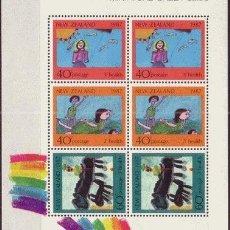 Sellos: NUEVA ZELANDA HB 60*** - AÑO 1987 - PRO OBRAS PARA LA SALUD INFANTIL - DIBUJOS INFANTILES. Lote 26555793