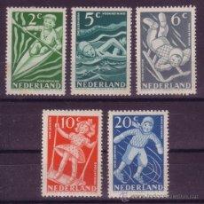 Sellos: HOLANDA 499/503*** - AÑO 1948 - PRO OBRAS INFANTILES - JUEGOS INFANTILES. Lote 24558939