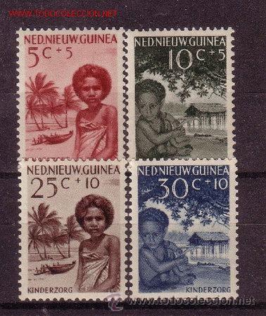 NUEVA GUINEA HOLANDESA 43/46*** - AÑO 1957 - PRO OBRAS PARA LA INFANCIA (Sellos - Temáticas - Infantil)