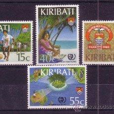 Sellos: KIRIBATI 138/41*** - AÑO 1985 - AÑO INTERNACIONAL DE LA JUVENTUD. Lote 24216399