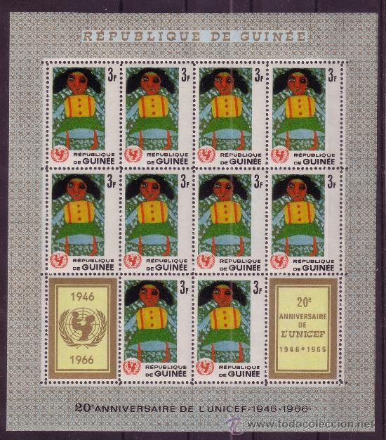 GUINEA MP 293/99*** - AÑO 1966 - 20º ANIVERSARIO DE UNICEF - DIBUJOS INFANTILES (Sellos - Temáticas - Infantil)