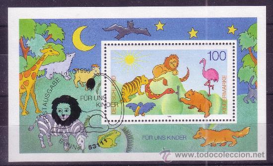ALEMANIA HB 33 - AÑO 1995 - POR NUESTROS NIÑOS - FAUNA (Sellos - Temáticas - Infantil)