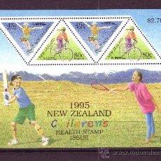 Sellos: NUEVA ZELANDA HB 100*** - AÑO 1995 - PRO OBRAS PARA LA SALUD INFANTIL. Lote 23881724