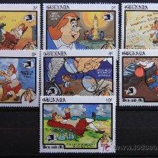 Sellos: GRENADA DIBUJOS ANIMADOS BEN AND ME 1989. Lote 17767268