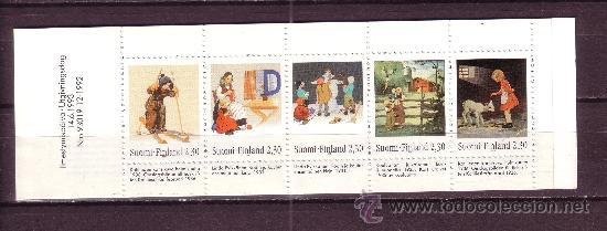 FINLANDIA CARNET 1184** - AÑO 1993 - CENTENARIO DEL NACIMIENTO DE MARTTA WENDELLIN - ILUSTRACIONES (Sellos - Temáticas - Infantil)