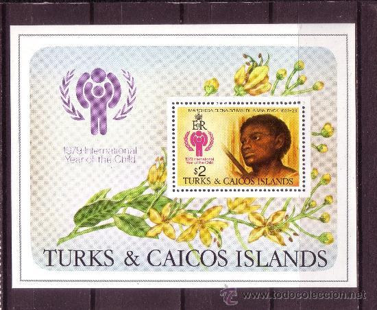 TURKS & CAICOS HB 15*** - AÑO 1979 - AÑO INTERNACIONAL DEL NIÑO - PINTURA - OBRA DE VAN DYCK (Sellos - Temáticas - Infantil)