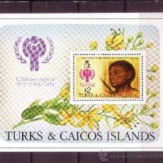 Sellos: TURKS & CAICOS HB 15*** - AÑO 1979 - AÑO INTERNACIONAL DEL NIÑO - PINTURA - OBRA DE VAN DYCK. Lote 22112548