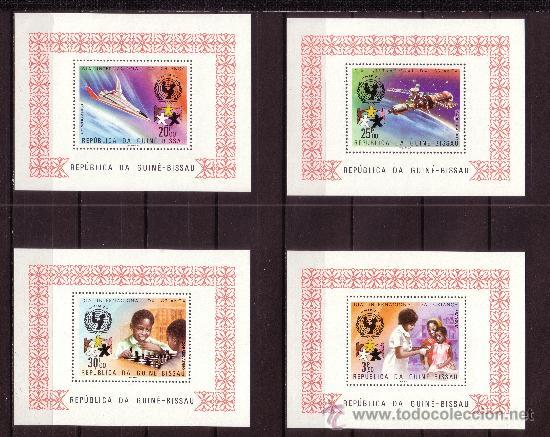 GUINEA BISSAU 99/101 Y ÁEREO 49/51 HB*** - AÑO 1979 - DÍA INTERNACIONAL DEL NIÑO - CONQUISTA ESPACIO (Sellos - Temáticas - Infantil)