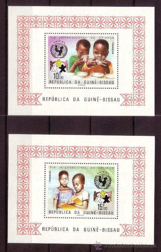Sellos: GUINEA BISSAU 99/101 Y ÁEREO 49/51 HB*** - AÑO 1979 - DÍA INTERNACIONAL DEL NIÑO - CONQUISTA ESPACIO - Foto 2 - 23594193