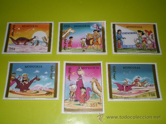SELLOS LOS PICAPIEDRAS DE MONGOLIA ( THE FLINTSTONES ) * HANNA BARBERA * (Sellos - Temáticas - Infantil)