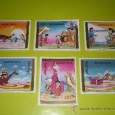 Sellos: SELLOS LOS PICAPIEDRAS DE MONGOLIA ( THE FLINTSTONES ) * HANNA BARBERA *. Lote 24003717