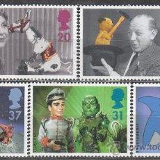 Sellos: INGLATERRA IVERT 1910/4, 50 AÑOS DE EMISIONES TELEVISADAS PARA LOS NIÑOS, NUEVO. Lote 24295128