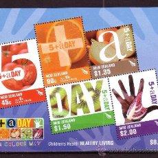 Sellos: NUEVA ZELANDA HB 211*** - AÑO 2006 - PRO SALUD INFANTIL - FRUTOS. Lote 25249696