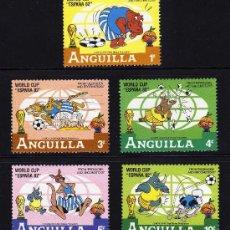 Sellos: ANGUILLA - PRECIOSA SERIE DE 5 SELLOS - WALT DISNEY - COPA DEL MUNDO . Lote 26309864