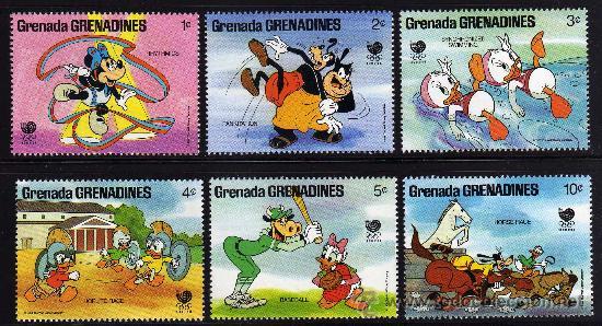 GRENADA GRENADINES - PRECIOSA SERIE DE 6 SELLOS - WALT DISNEY - OLIMPIADA SEUL 1988 (Sellos - Temáticas - Infantil)