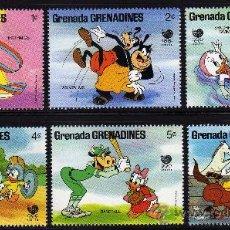 Sellos: GRENADA GRENADINES - PRECIOSA SERIE DE 6 SELLOS - WALT DISNEY - OLIMPIADA SEUL 1988. Lote 26310042