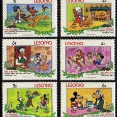 Sellos: LESOTHO - PRECIOSA SERIE DE 6 SELLOS - WALT DISNEY - NAVIDAD 1983. Lote 26314263